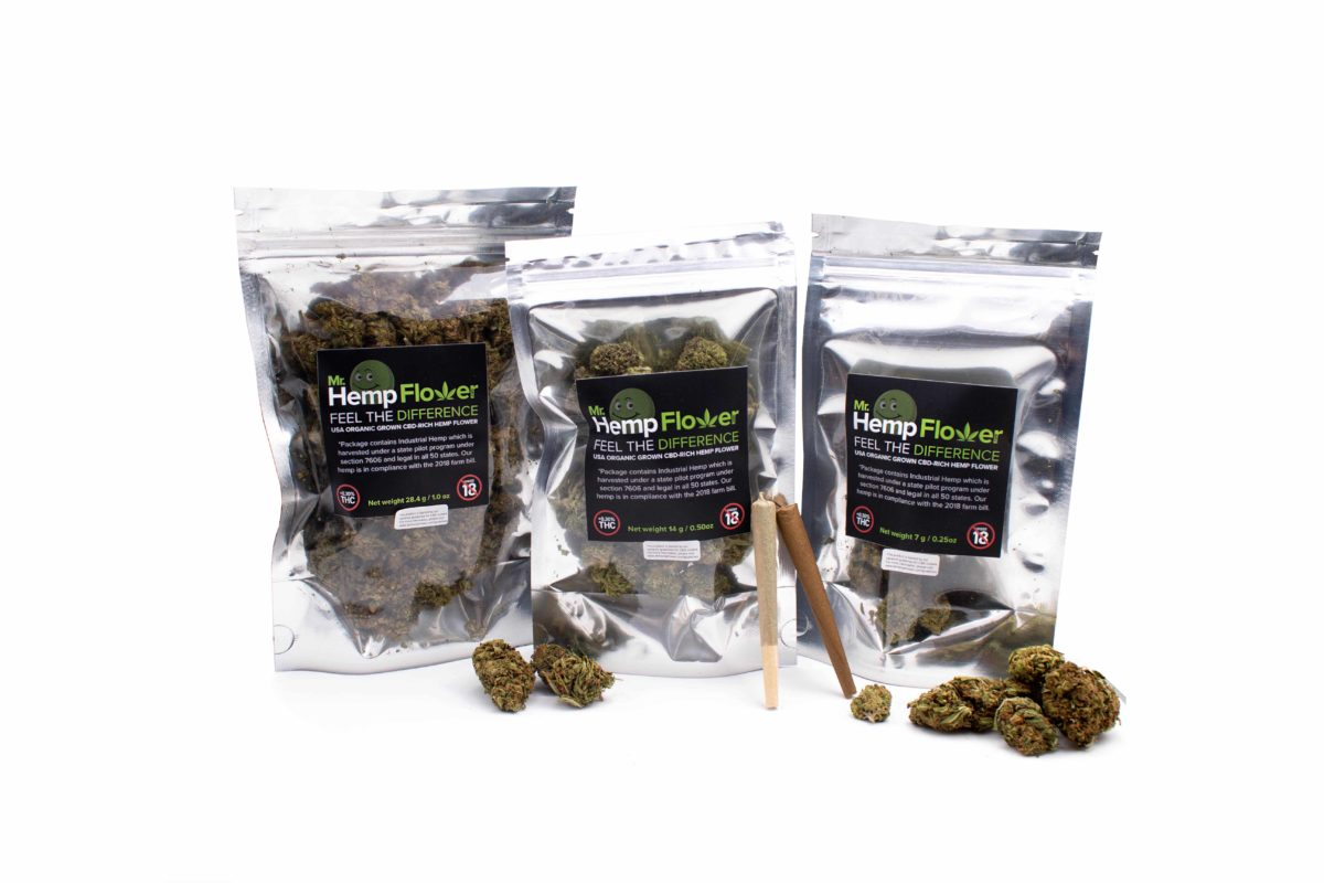 Retail Hemp flower products from mr hemp flower
